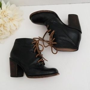 Freebird by steven beck leather lace up booties 7